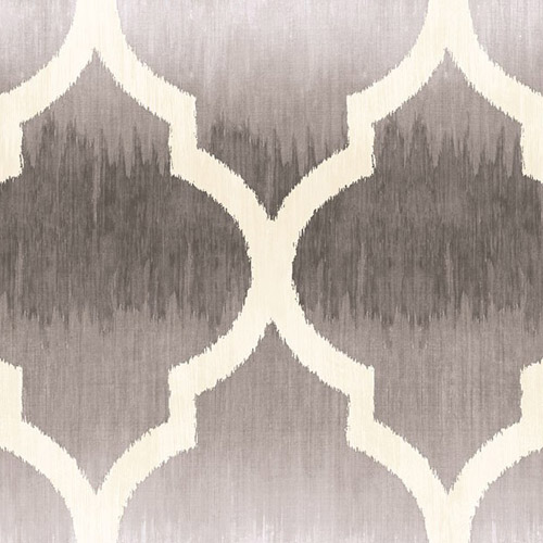 MT80400 Seabrook Wallcoverings Montage Catamount Ogee Wallpaper Gray