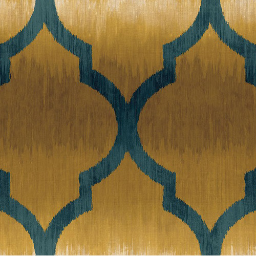 MT80403 Seabrook Wallcoverings Montage Catamount Ogee Wallpaper Blue