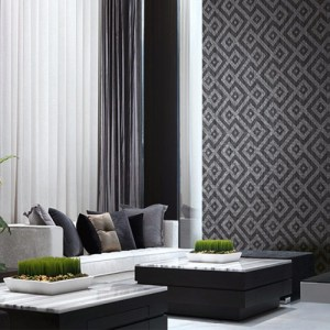 Seabrook Wallcoverings Modena Gene Wallpaper Roomset