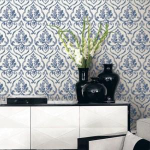 Seabrook Wallcoverings Montage Tamarack Wallpaper Roomset