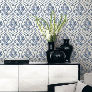 Seabrook Wallcoverings Montage Tamarack Wallpaper Roomset