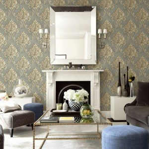 Seabrook Wallcoverings Montage Telluride Wallpaper Roomset