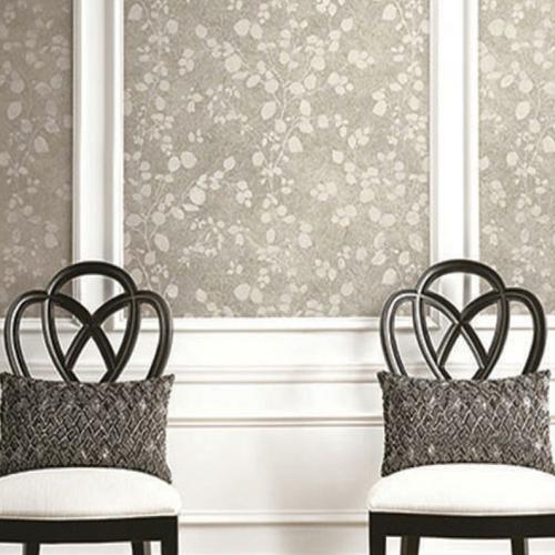 Seabrook Wallcoverings Jupiter Nate Floral Wallpaper Room Setting