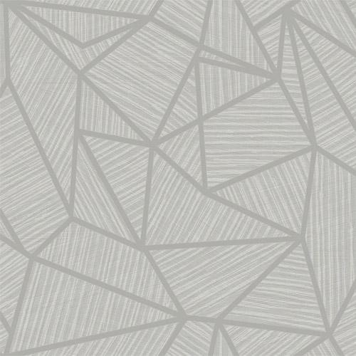 TE11303 Seabrook Wallcoverings Jupiter Geometric Textured Wallpaper Gray