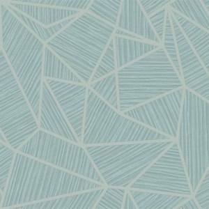 TE11304 Seabrook Wallcoverings Jupiter Geometric Textured Wallpaper Aqua
