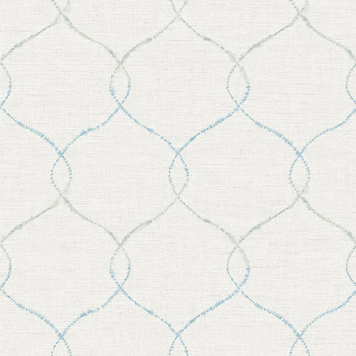AH41602 Seabrook Wallcoverings L'Atelier de Paris Ogee Trellis Wallpaper Blue
