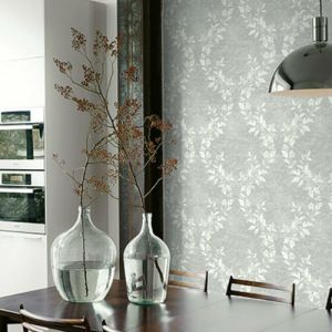 Seabrook Wallcoverings Carl Robinson Sea Glass Oakdale Wallpaper Room Setting