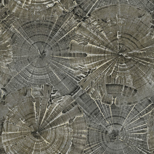 CR76003 Seabrook Wallcoverings Carl Robinson Sea Glass Opal Wallpaper Charcoal