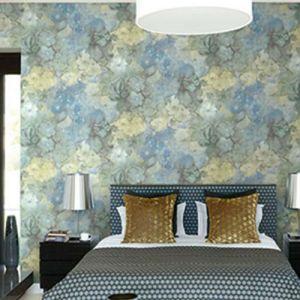 Seabrook Wallcoverings Carl Robinson Sea Glass Oriel Wallpaper Room Setting