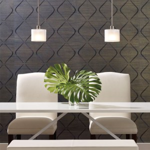 York Wallcoverings Candice Olson Natural Splendor Marquise Wallpaper Room Setting