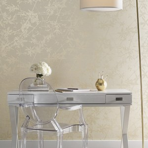 York Wallcoverings Candice Olson Natural Splendor Sylvan Wallpaper Room Setting