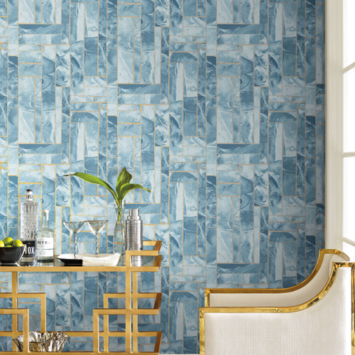 York Wallcoverings Candice Olson Natural Splendor Moonbeams Wallpaper Room Setting