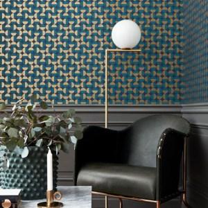 Brewster Wallcoverings Scandinavian Designers 2 Geometric Vertigo Wallpaper Room Setting