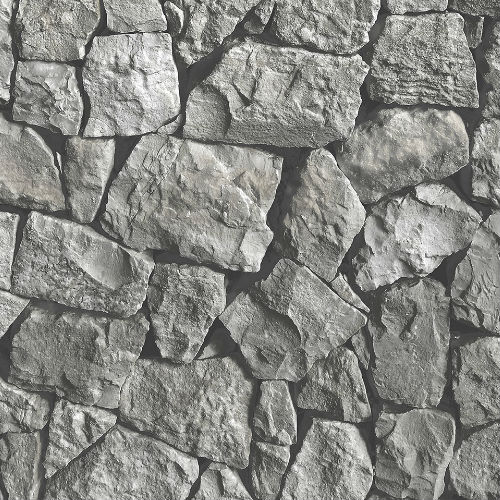 LL36218 Patton Wallcoverings Norwall Illusions 2 Tumbled Stone Wallpaper Charcoal