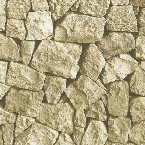 LL36222 Patton Wallcoverings Norwall Illusions 2 Tumbled Stone Wallpaper Tan