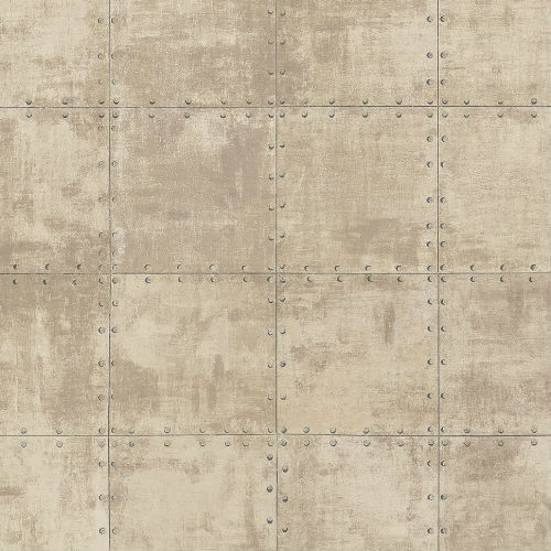 LL36227 Patton Wallcoverings Norwall Illusions 2 Rustic Tin Wallpaper Beige