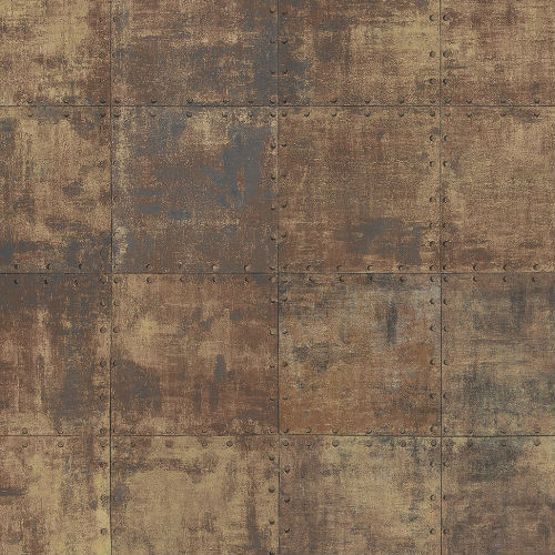 LL36228 Patton Wallcoverings Norwall Illusions 2 Rustic Tin Wallpaper Copper