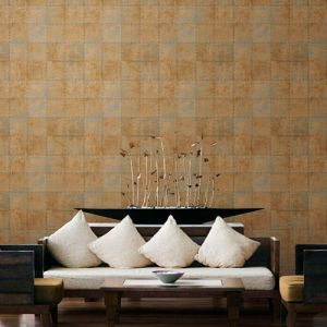Patton Wallcoverings Norwall Illusions 2 Rustic Tin Wallpaper Room Setting