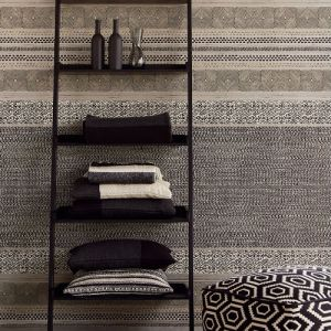 376023 Brewster Wallcoverings Eijffinger Siroc Stripe Setif Wallpaper Room Setting