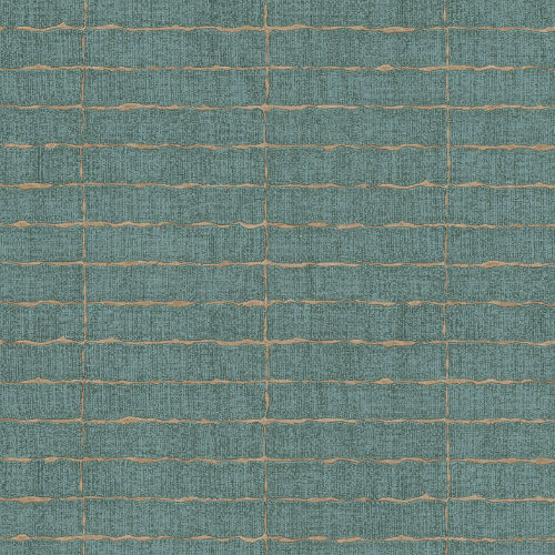 376071 Brewster Wallcovering Eijffinger Siroc Brick Batna Wallpaper Teal