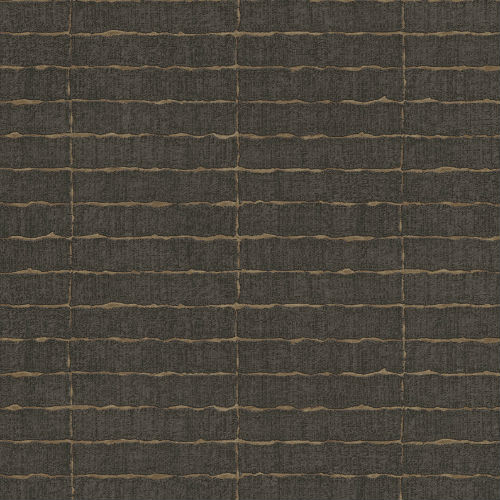 376072 Brewster Wallcovering Eijffinger Siroc Brick Batna Wallpaper Dark Brown