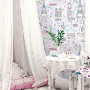 Seabrook Wallcoverings Playdate Adventure Bon Voyage Wallpaper Room Setting