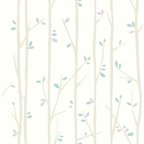 FA41209 Seabrook Wallcoverings Playdate Adventure Tree Top Wallpaper Purple