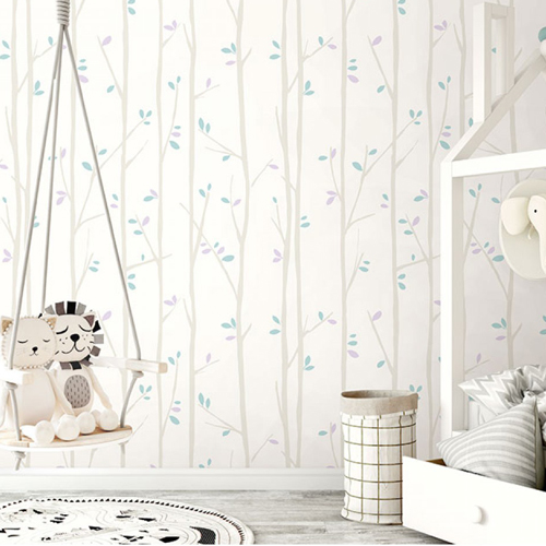 Seabrook Wallcoverings Playdate Adventure Tree Top Wallpaper Room Setting