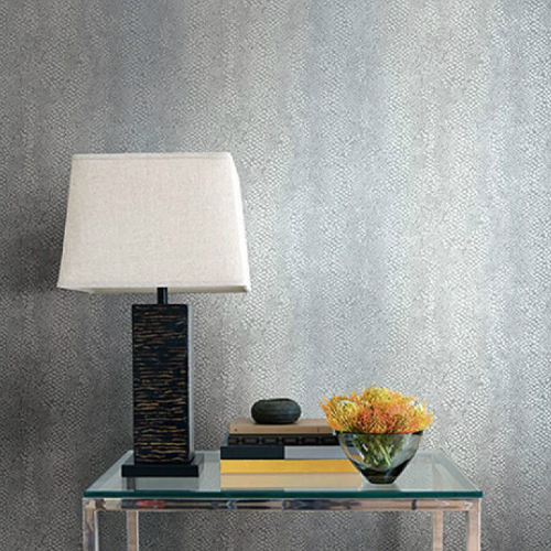 Seabrook Wallcoverings Texture Anthology Etten Animal Print Wallpaper Room Setting