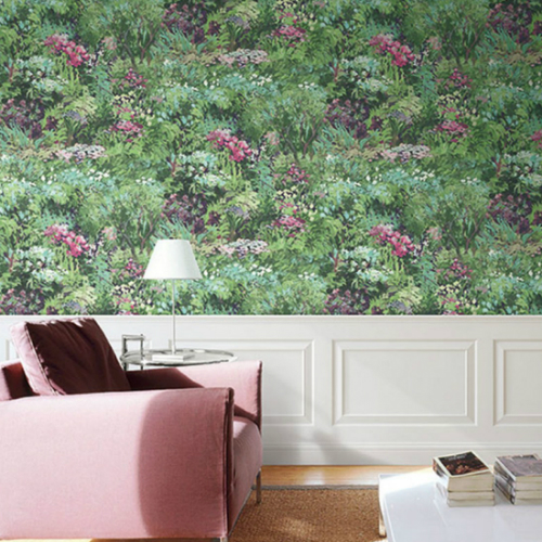 Seabrook Wallcoverings French Impressionist Wildflower Wallpaper Room Setting