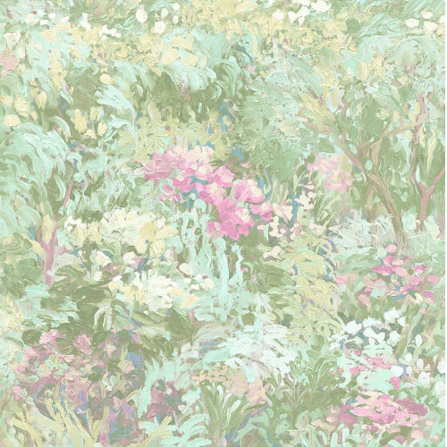 FI70702 Seabrook Wallcoverings French Impressionist Wildflower Wallpaper Pink