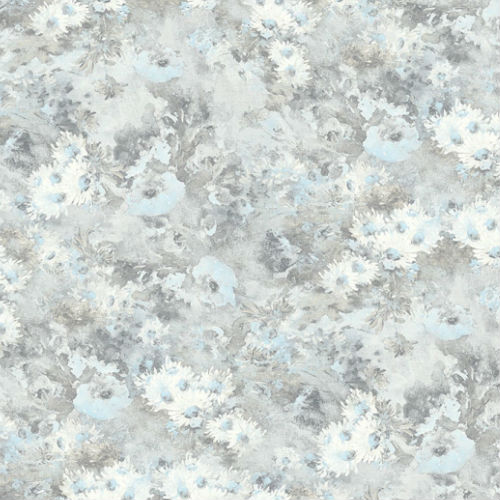 FI71308 Seabrook Wallcoverings French Impressionist Meadows Wallpaper Gray