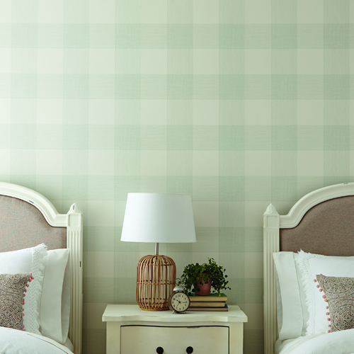 ME1521 York Wallcoverings Joanna Gaines Magnolia Home 2 Common Thread Wallpaper Room Setting