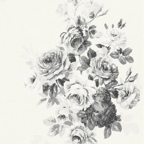 ME1534 York Wallcoverings Joanna Gaines Magnolia Home 2 Tea Rose Wallpaper White