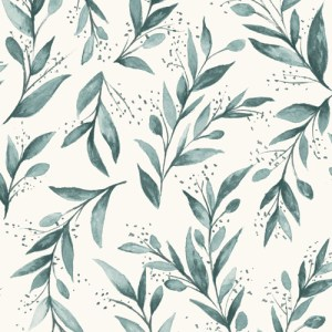 ME1536 York Wallcoverings Joanna Gaines Magnolia Home 2 Olive Branch Wallpaper Blue