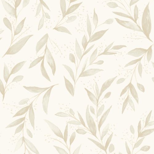 ME1538 York Wallcoverings Joanna Gaines Magnolia Home 2 Olive Branch Wallpaper Beige