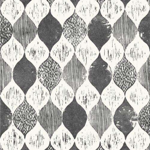 ME1565 York Wallcoverings Joanna Gaines Magnolia Home 2 Wood Block Print Wallpaper Black