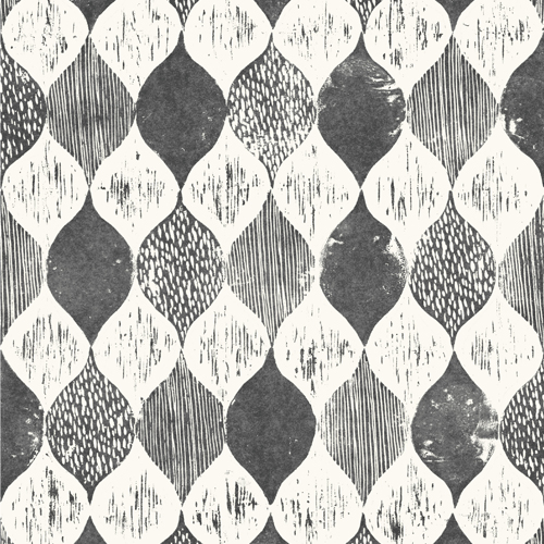 ME1565 York Wallcoverings Joanna Gaines Magnolia Home 2 Wood Block Print Wallpaper Black