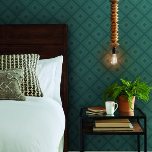 ME1577 York Wallcoverings Joanna Gaines Magnolia Home 2 Diamond Sketch Wallpaper Room Setting