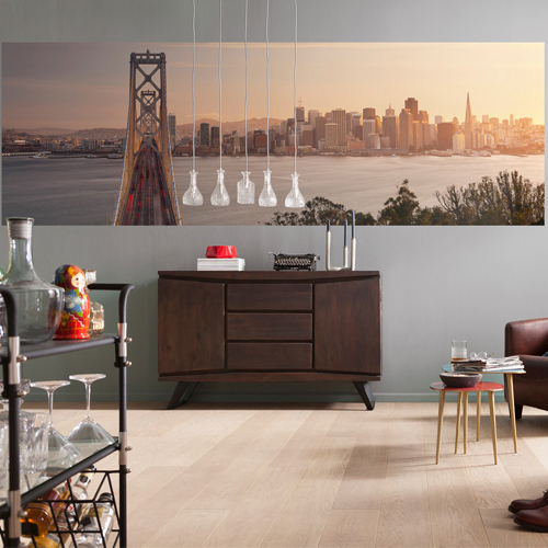 Brewster Wallcoverings Komar Into Illusions 2 California Dreaming Mural Room Setting