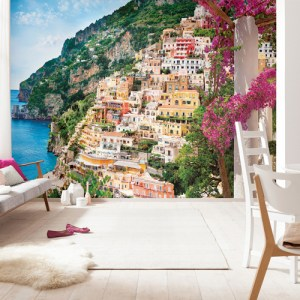 Brewster Wallcoverings Komar Into Illusions 2 Positano Mural Room Setting