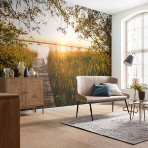 Brewster Wallcoverings Komar Into Illusions 2 Lakeside Mural Room Setting