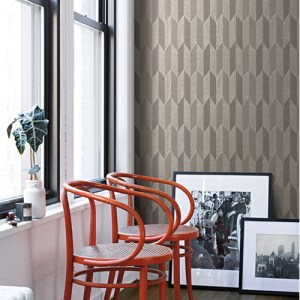 York Wallcoverings Mid Century Cosmopolitan Wallpaper Room Setting