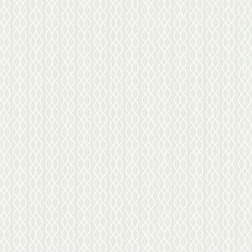 ZN52407 Seabrook Wallcoverings Texture Anthology Etten Ogee Stripe Wallpaper White