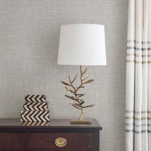Brewster Wallcovering Warner Textures and Weaves Bohemian Bling Basketweave Wallpaper Room Setting