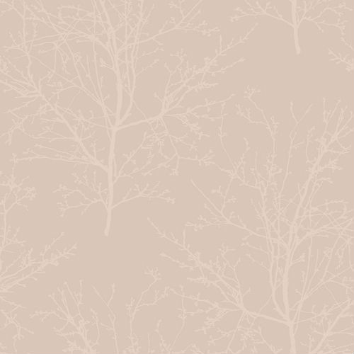 UK11501 Seabrook Wallcoverings Pear Tree Studios Mica Glass Bead Tree Wallpaper Pink
