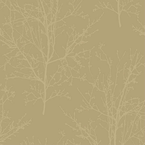 UK11503 Seabrook Wallcoverings Pear Tree Studios Mica Glass Bead Tree Wallpaper Gold