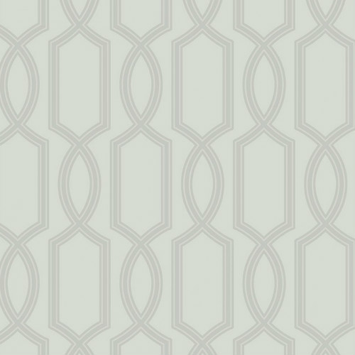 UK11700 Seabrook Wallcoverings Pear Tree Studios Mica Glass Bead Trellis Wallpaper Silver
