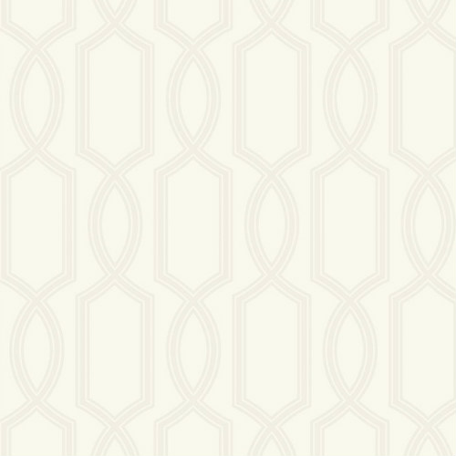 UK11703 Seabrook Wallcoverings Pear Tree Studios Mica Glass Bead Trellis Wallpaper Ivory