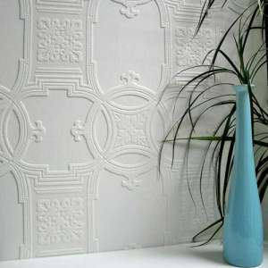 437-RD01600 Brewster Wallcovering Anaglypta XII Early Victorian Paintable Wallpaper